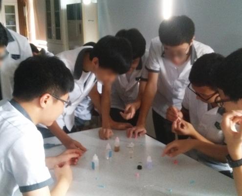 루미놀 반응 고등학생 체험