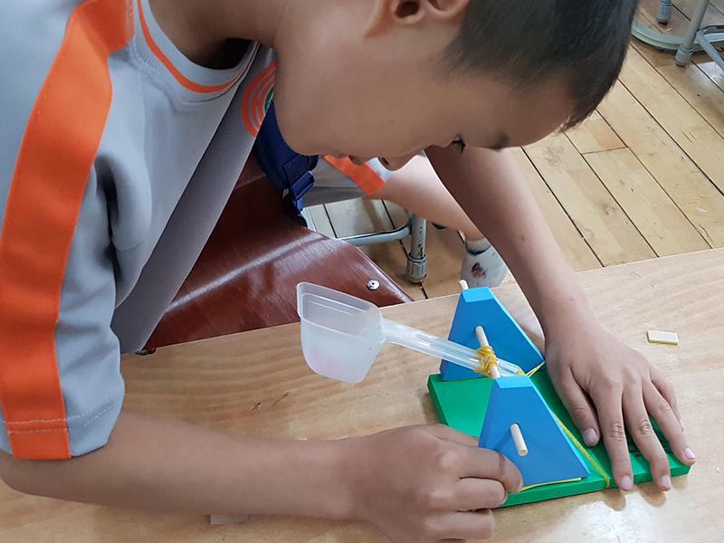 투석기 초등학생 체험